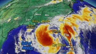 Tropical Storm Isaac Moves Up Gulf of Mexico