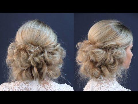 Hairstyle for long hair - Свадебная причёска в греческом стиле, без лака и завивки by REM