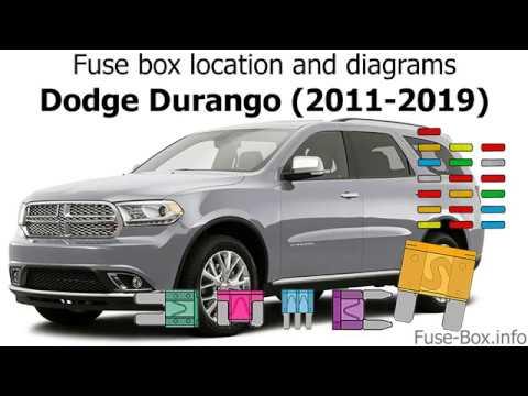fuse box location and diagrams: dodge durango (2011-2019) - youtube  youtube