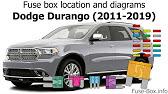 Fuse Box Location And Diagrams Dodge Durango 2011 2019 Youtube