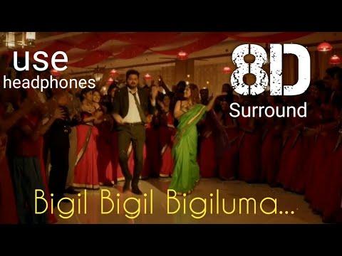 Bigil-Bigil Bigil Bigiluma video 8D   Vijay, Nayanthara   A.R Rahman   Atlee