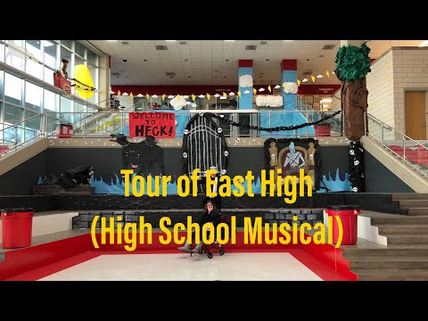 Tour Of East High School In Salt Lake City, Utah (a.k.a HSM School) Floor B & A