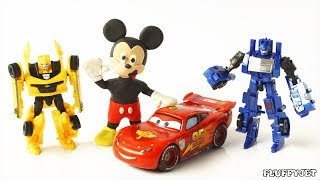 Toy Car Adventure with Transformers kids cartoon toy video