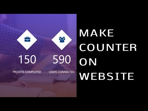 How To Make Counters On Website Using HTML CSS JavaScript | Create Counter Up