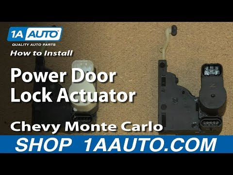 How To Replace Door Lock Actuator 95 06 Chevy Monte Carlo Youtube