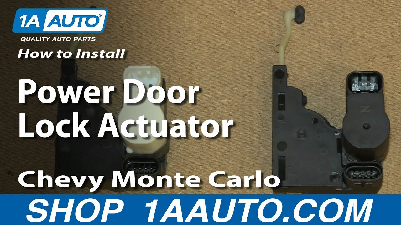 How To Install Replace Power Door Lock Actuator 200007 Chevy Monte Carlo  YouTube