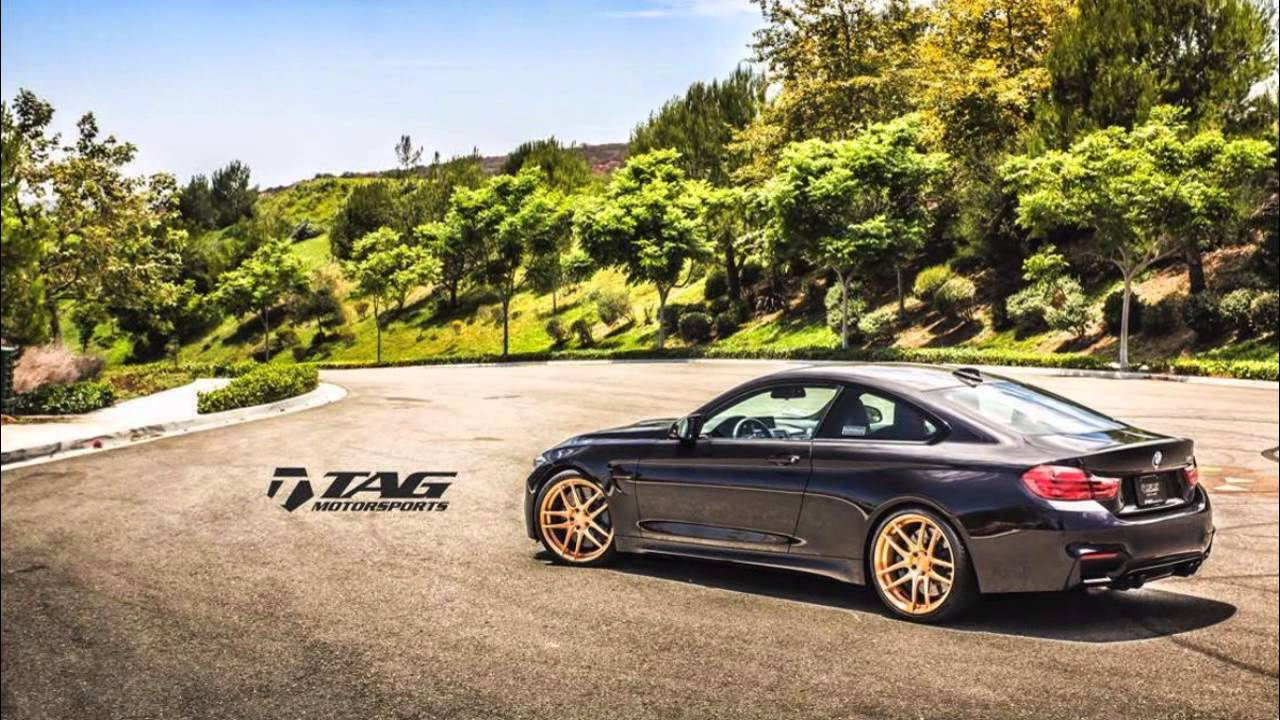 Bmw M4 Coupe On Matte Black Hre And Gold Morr Wheels Youtube