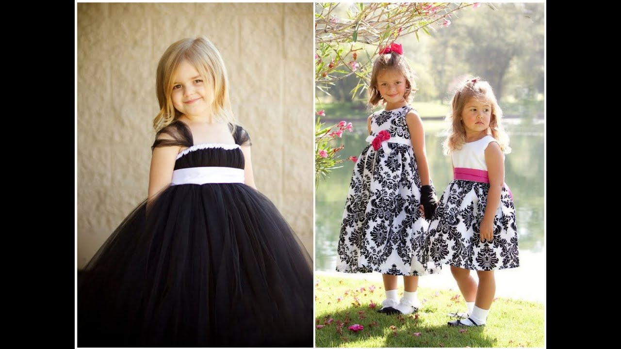 2014 Wedding Trend Black And White Flower Girl Dresses Youtube