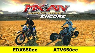 EDX 650cc vs ATV 650cc - Fully Upgraded - MX vs ATV Supercross Encore Finale!
