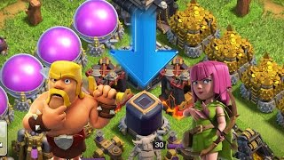 Clash of Clans:  Grab that loot!!  Th10 DE Farming!!  Goblin Knife