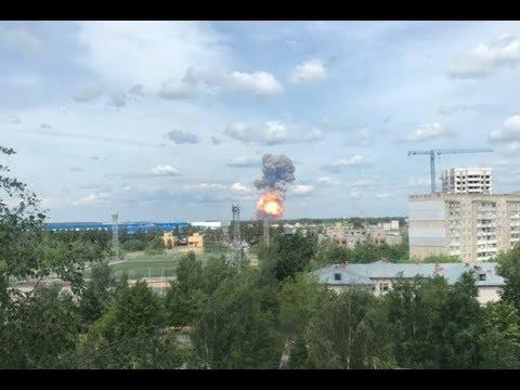 В Дзержинске мощные взрывы
