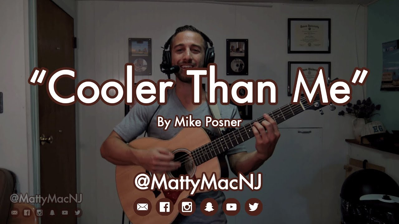 Guitar lesson how to play cooler than me mike posner youtube.