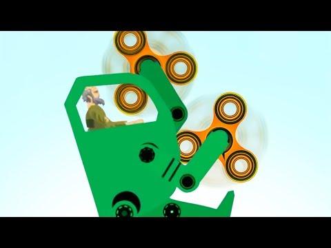FIDGET SPINNER DEATHMACHINE! (Happy Wheels)