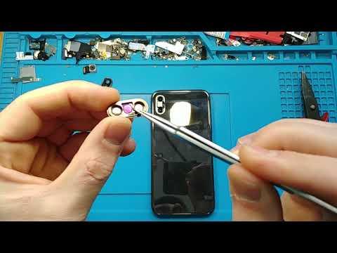 Iphone X Camera Glass Repair / Ремонт стекла камеры айфон 10