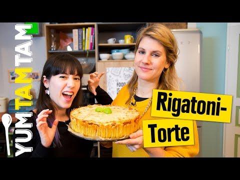 Rigatoni-Torte // Herzhafter Pasta-Kuchen // #yumtamtam
