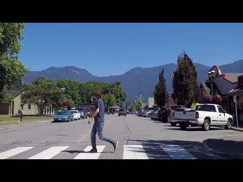Agassiz BC Canada - Downtown Area - Driving in Small Town British Columbia