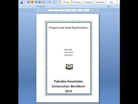 Cara Memberi frame / Bingkai Pada Microsoft Word 2007.