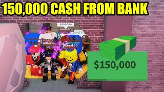 Can We Take OVER 150,000 CASH FROM THE BANK??? | Roblox Jailbreak