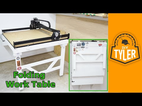 how to build a fold down work table