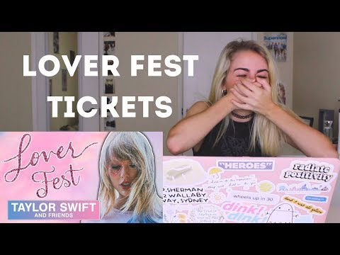 BUYING LOVER FEST TICKETS! | Taylor Swift Tour