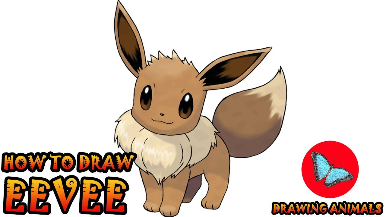 How To Draw Eevee Pokemon | Drawing Animals