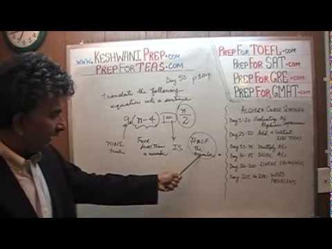 Teas V Math Day 50 P103 P104 Algebra Word Problems