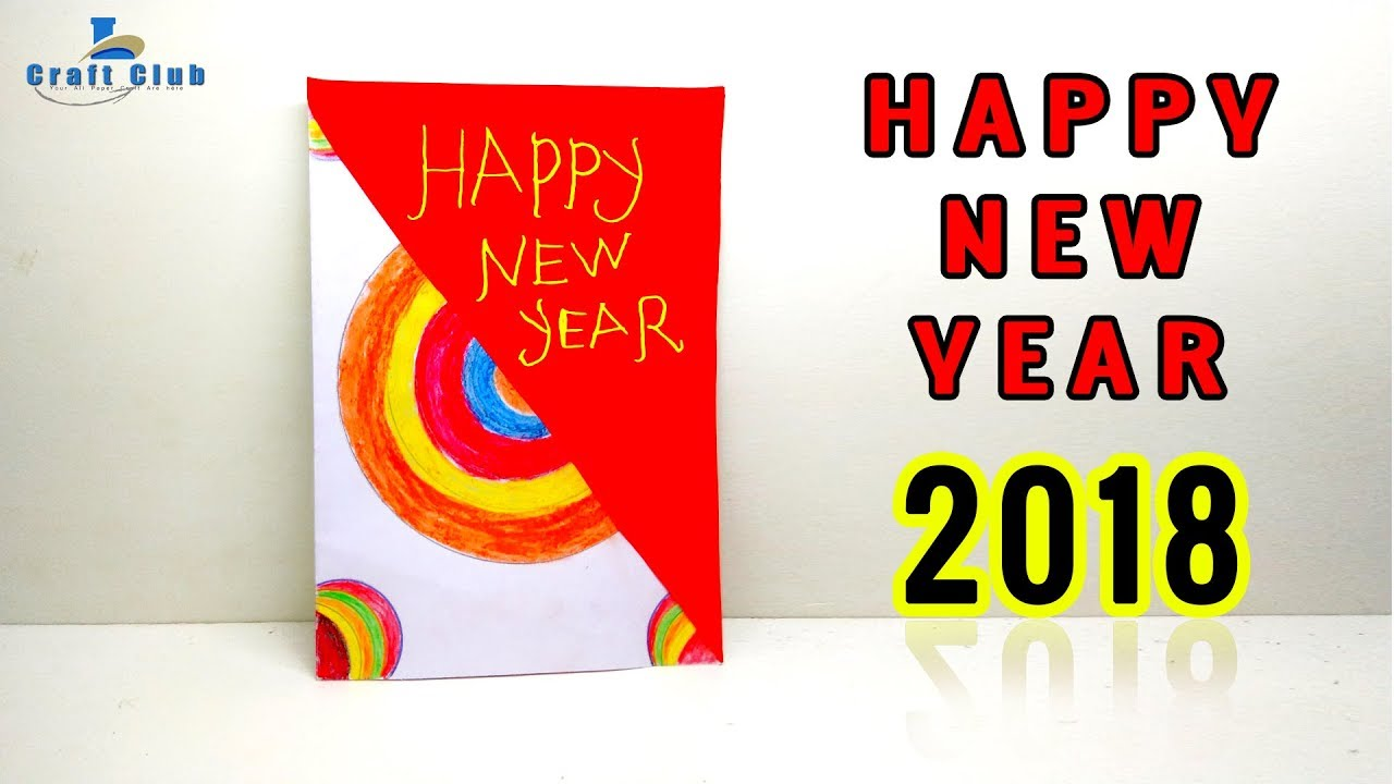 happy new year card 2018 new year gift card 2018 best new year card linas craft club