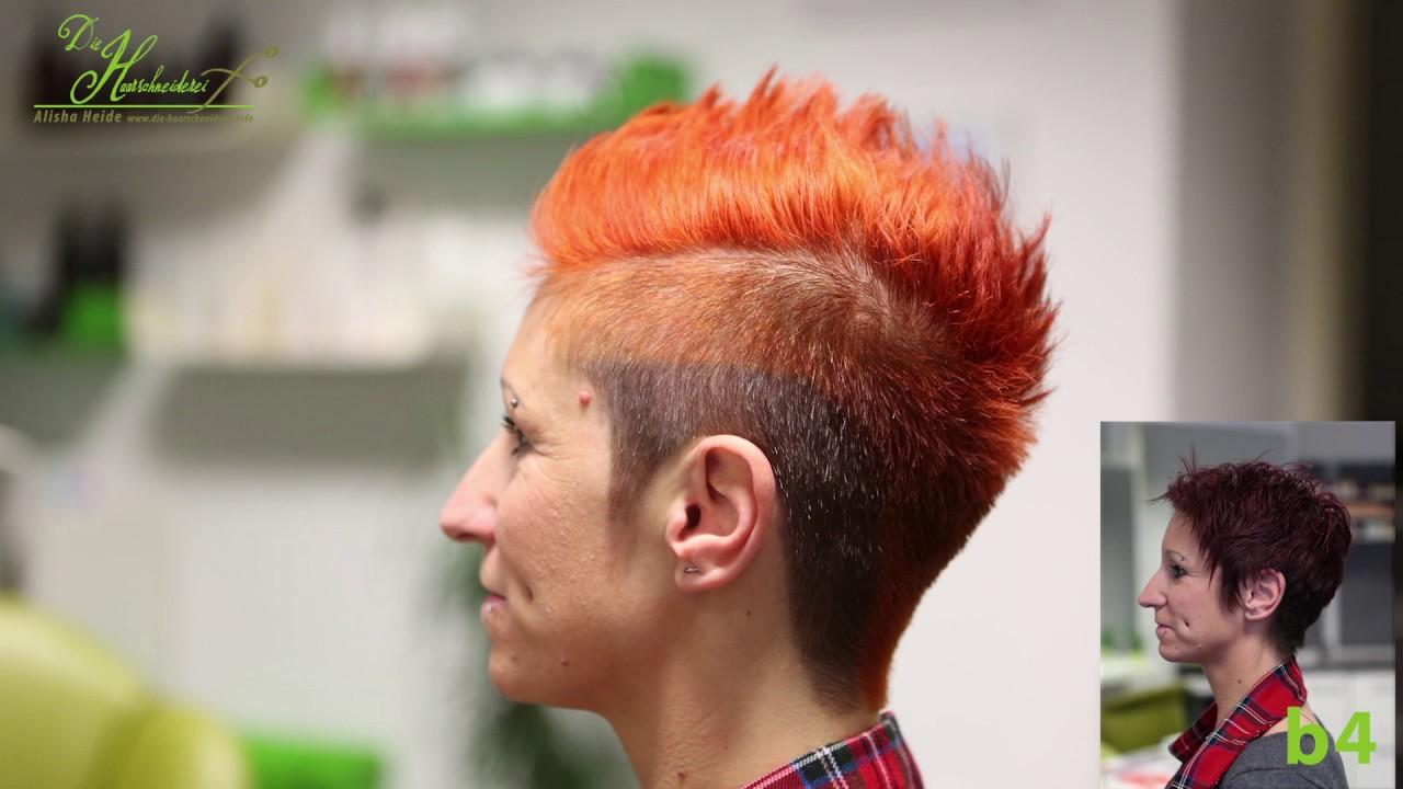 extreme pixie undercut hair makeover / buzzcut mohawk hairstyle haircut women by alisha heide