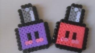 Esmalte de Uñas Kawaii con Hama Beads