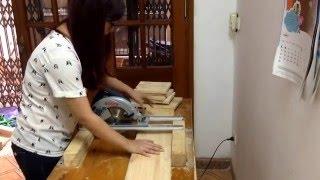 Tự chế bàn cắt gỗ - Xưởng gỗ tự đóng MooCj