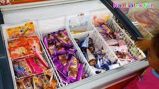 Drama Borong Beli Es Krim Duo Anggur & Menikmati icip icip Ice Cream Walls Paddle Pop Baru Lezat