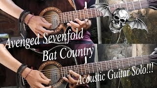 Avenged Sevenfold - Bat Country ( Acoustic Guitar Solo Cover )
