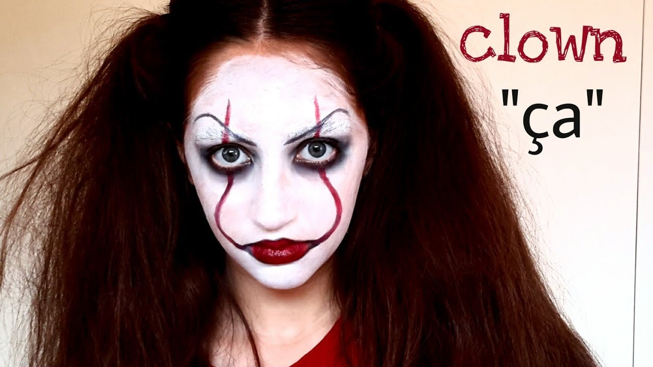 Maquillage halloween clown pennywise a facile youtube - Maquillage de clown facile ...