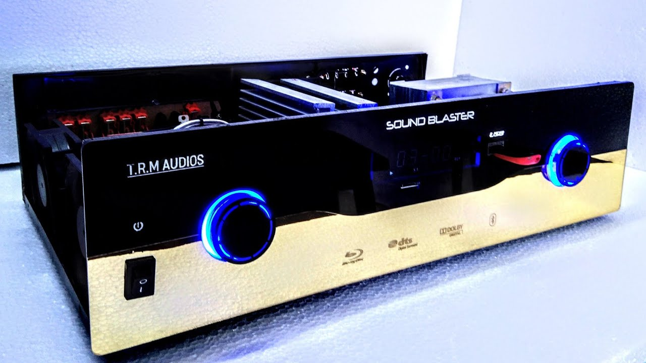 7 2 DOLBY digital amplifier with 3D sound (5 1 track) dual subwoofer mode,  (model number :TA501)