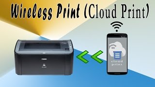 How to print from mobile directly using cloud Printing (Wireless Print) ?