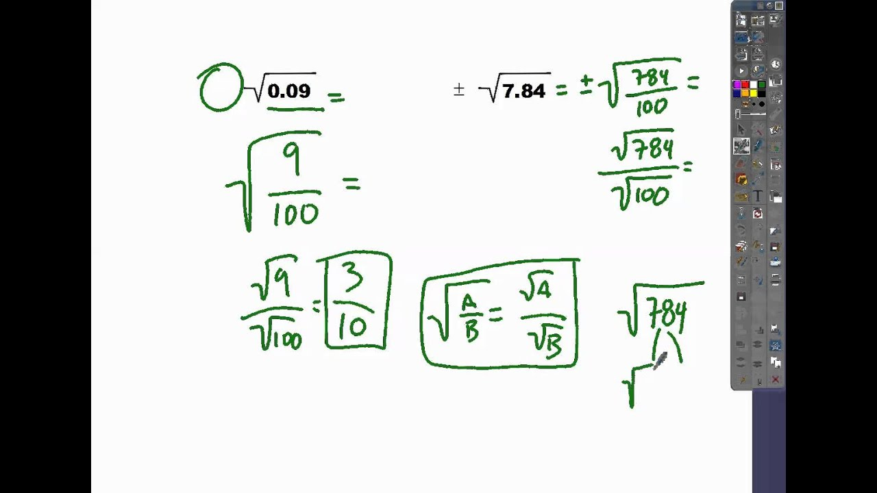 11-3 how to solve rational radicals (decimals) - YouTube