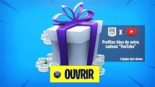 PLEASE FREE RECOMPENSES IN THIS VIDEO!! (FORTNITE x YOUTUBE)