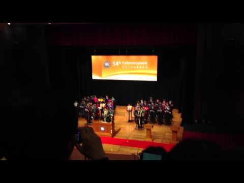 The 54th Commencement of Hong Kong Baptist University,6th session, University Anthem
