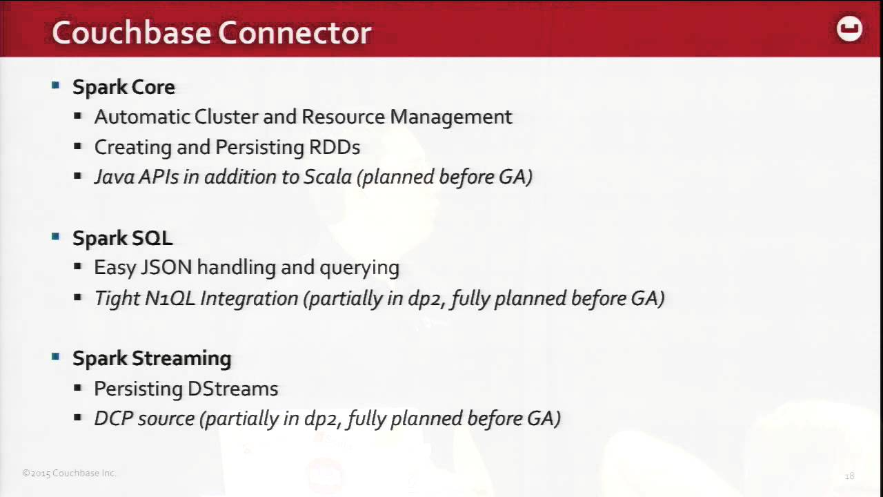 Spark with Couchbase to Electrify Your Data Processing – Couchbase Connect  2015
