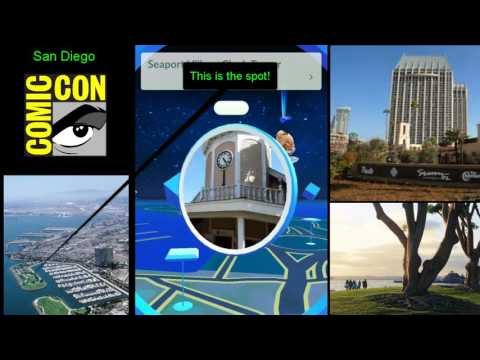San Diego Comic Con Pokemon GO pokestops! Guide downtown