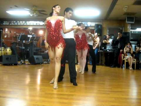 """Hector Reyes salsa performance at the """"Dancing for the Cure"""" event"""