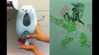 17 graffitis de los más locos encontrados en los baños públicos