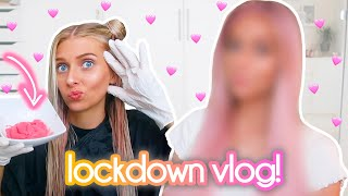 dying my hair PINK + UNSEEN FOOTAGE  lockdown vlog #5