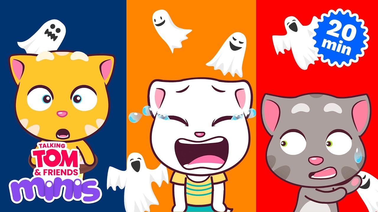 Download THE SPOOKY NIGHT – Talking Tom & Friends Minis Cartoon Compilation (21 Minutes)