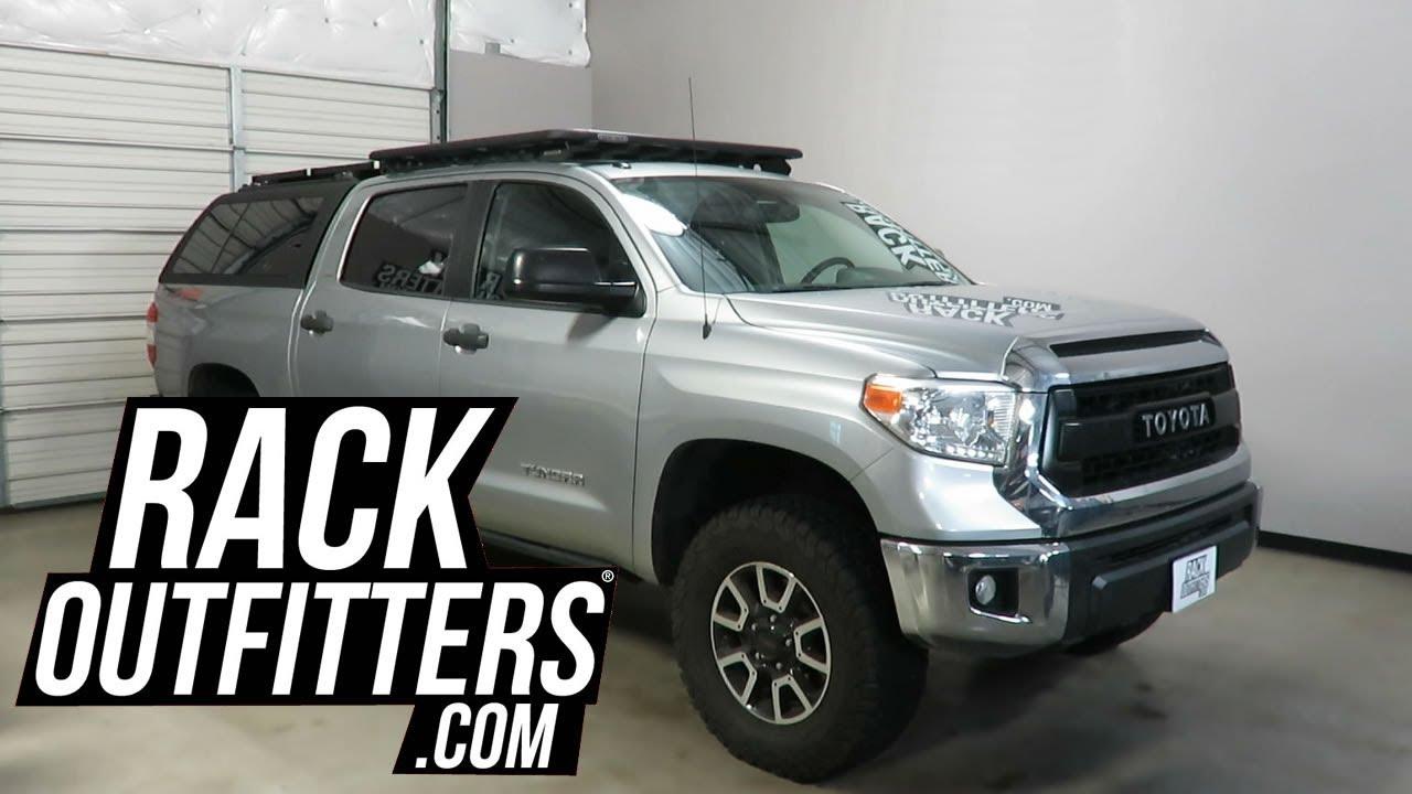 rhino rack pioneer platform backbone roof rack for toyota tundra crewmax truck cab