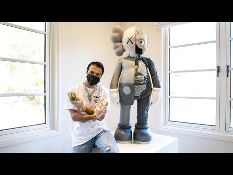 Unboxing $160K 4ft Kaws Companion Sculpture!