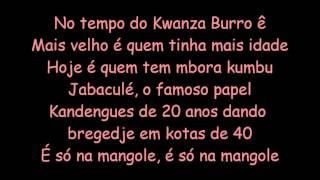 Matias Damásio - Kwanza Burro (letra)
