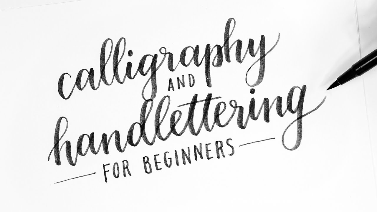 How to calligraphy hand lettering for beginners
