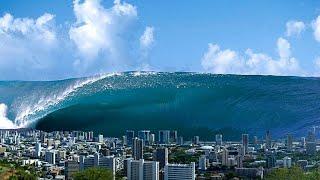 Шокирующее видео цунами в Японии - 1 часть