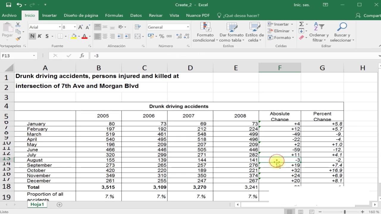 Conversion de un PDF en una hoja de calculo modificable de Microsoft ...